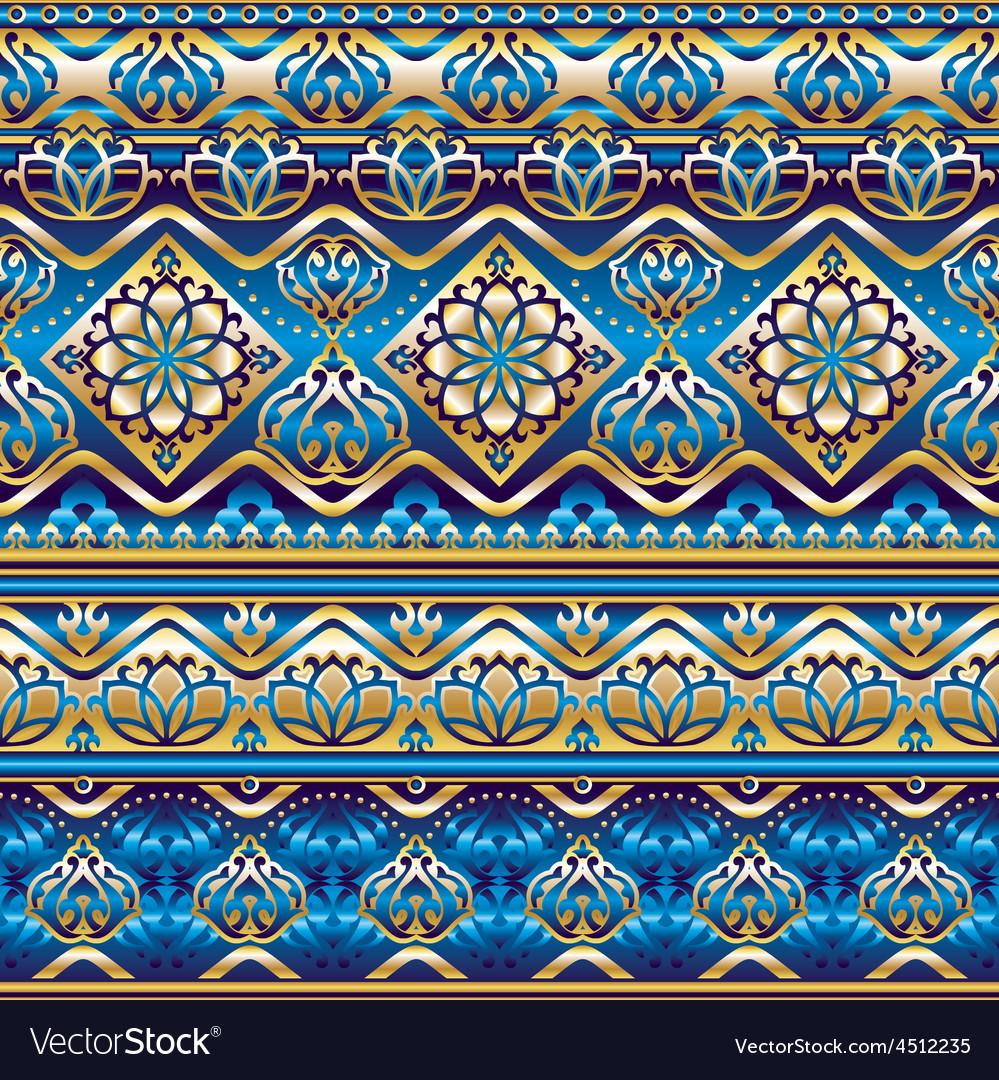 Silk blue ornament vector   Price: 1 Credit (USD $1)