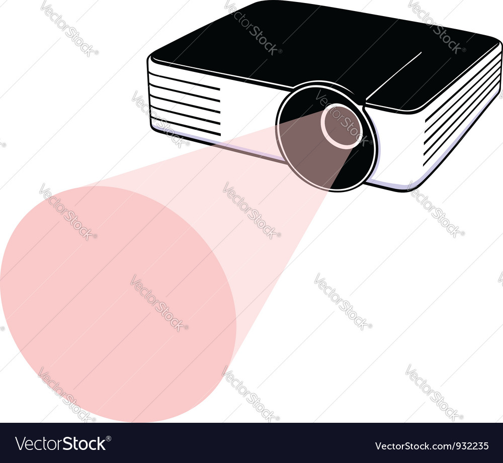 Video projector vector | Price: 1 Credit (USD $1)