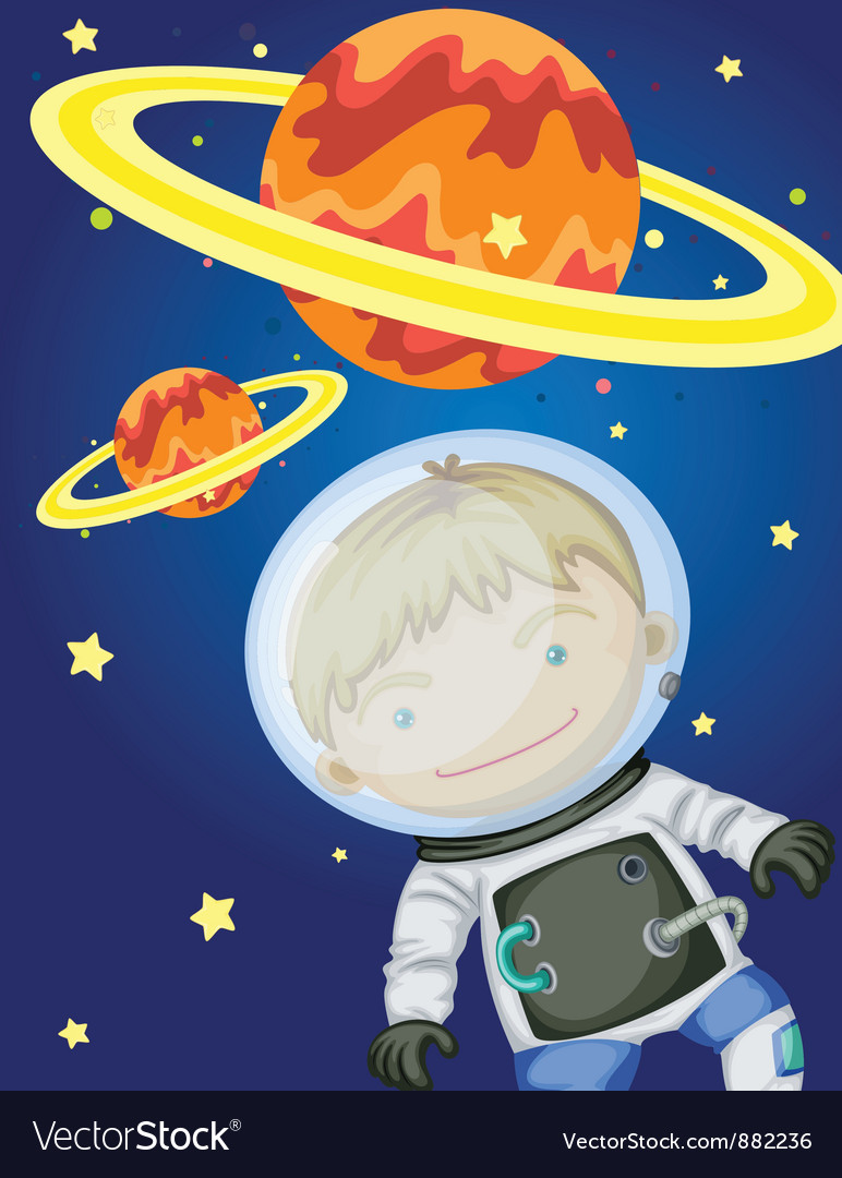 Astronaut in space vector   Price: 5 Credit (USD $5)
