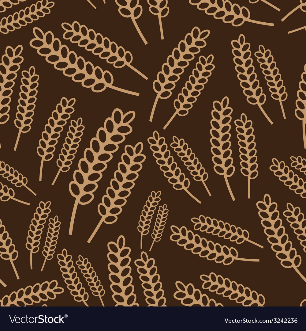 Autumn brown grain seamless pattern eps10 vector | Price: 1 Credit (USD $1)