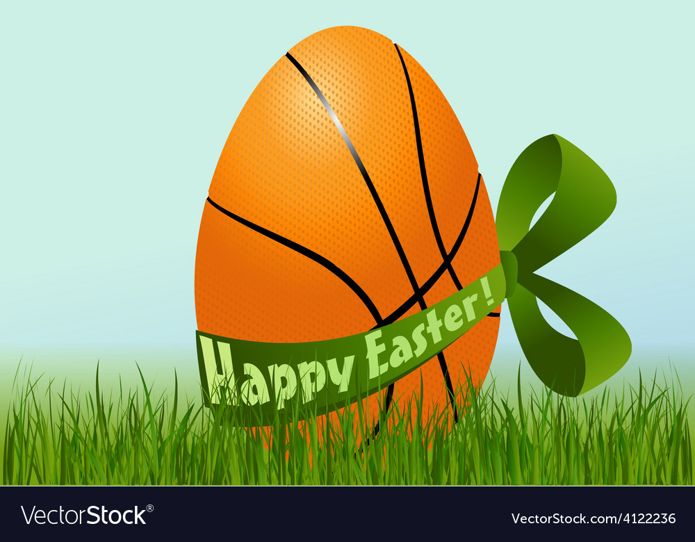 Basketball easter egg vector | Price: 1 Credit (USD $1)