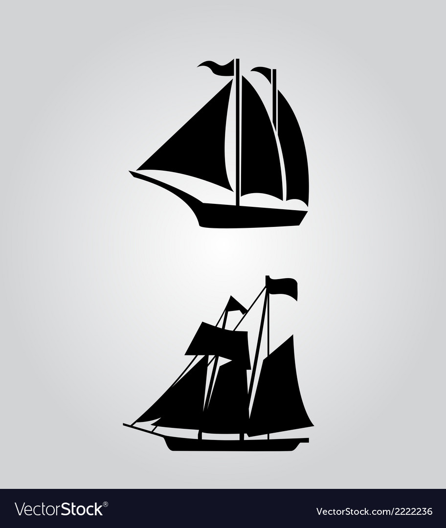 Classic sailing symbol icon vector | Price: 1 Credit (USD $1)