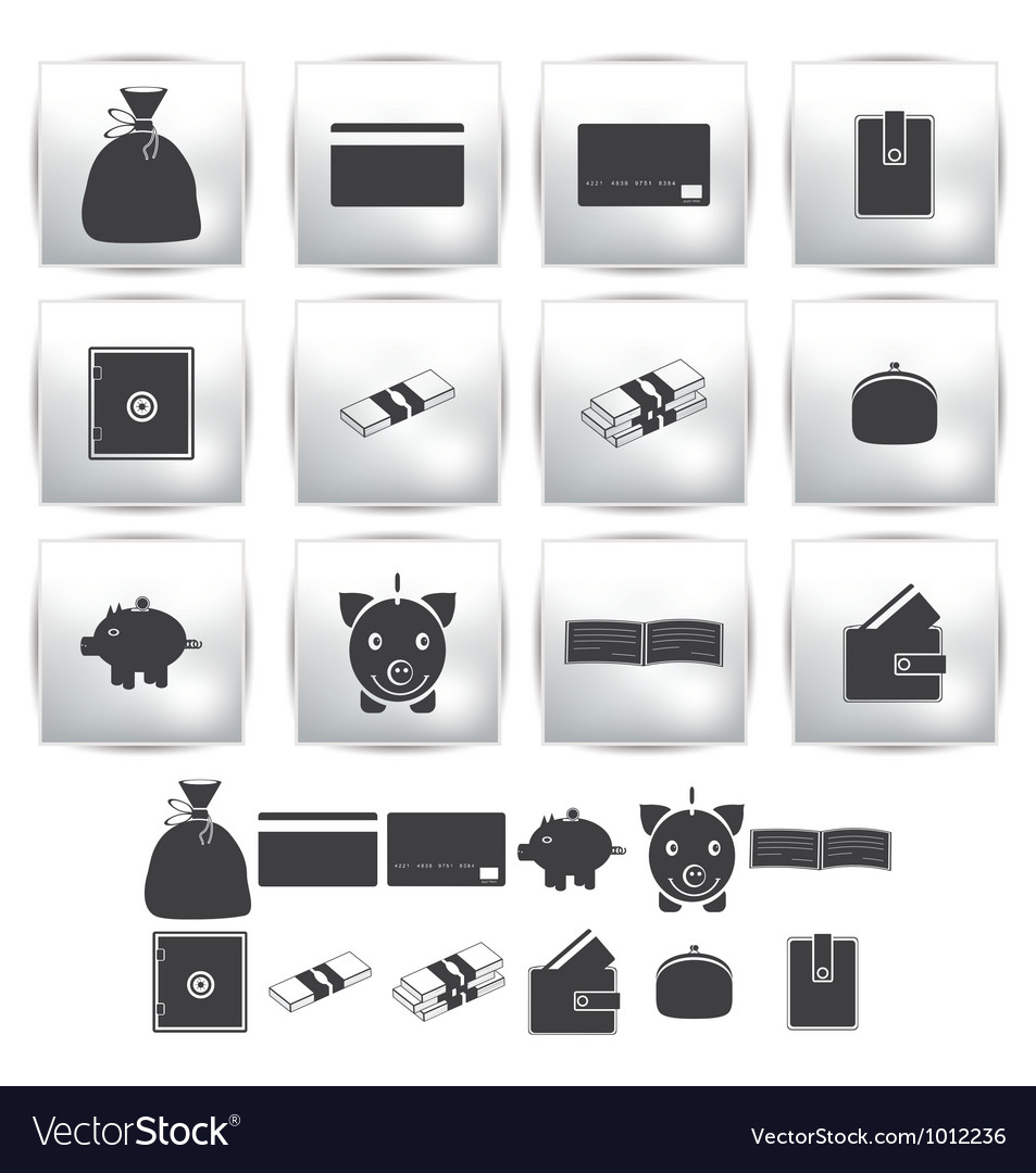 Collection web icon set pictogram vector | Price: 1 Credit (USD $1)