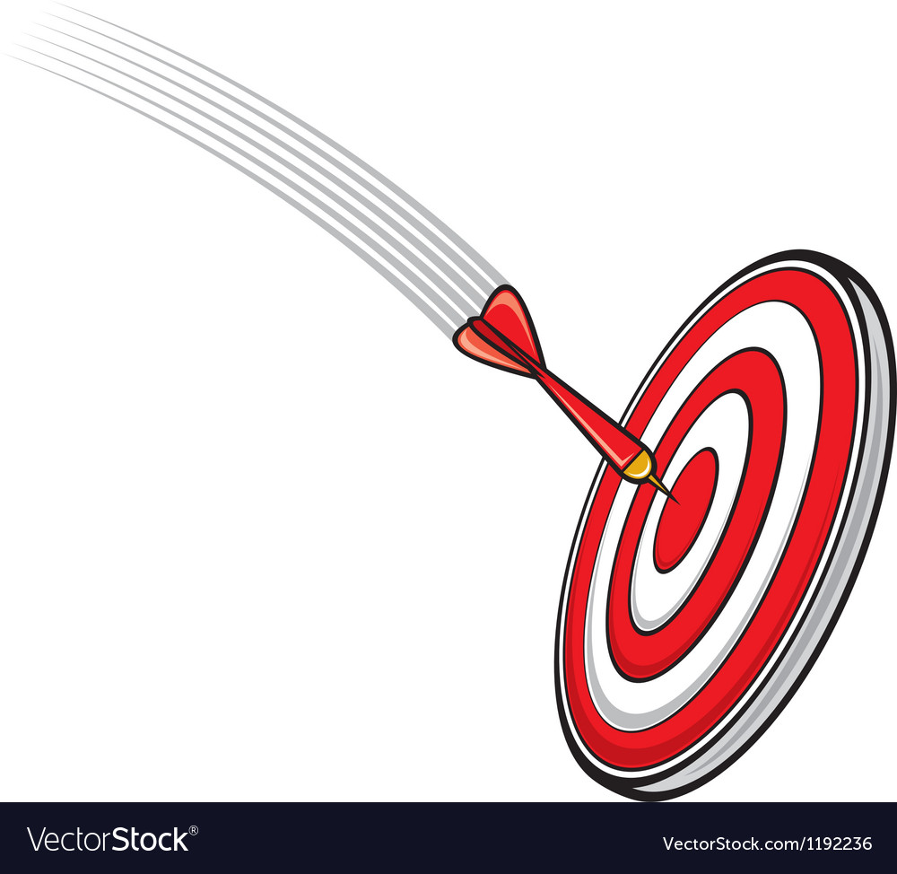 Dart hitting s target vector | Price: 1 Credit (USD $1)