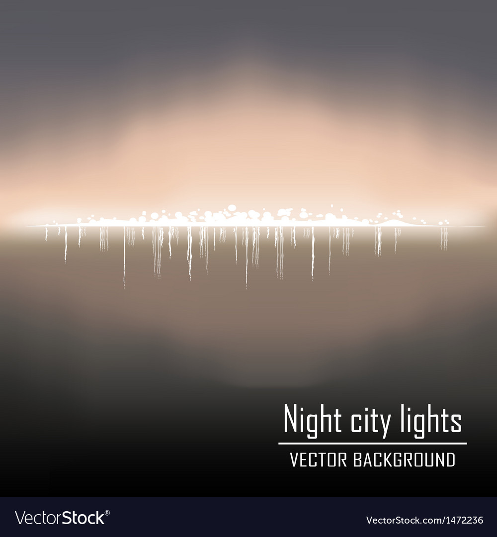 Night city lights background vector | Price: 1 Credit (USD $1)