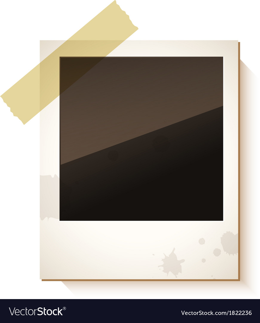 Old polaroid photo frame vector | Price: 1 Credit (USD $1)