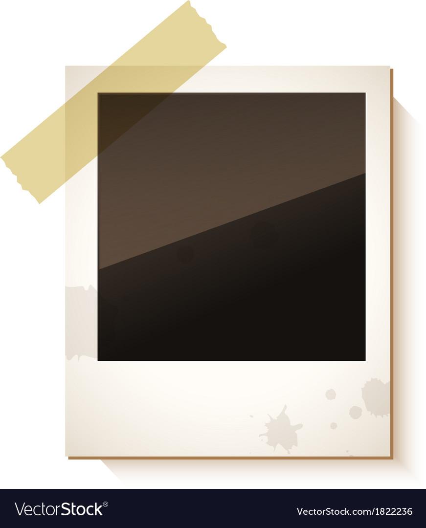 Old polaroid photo frame vector | Price: 1 Credit (USD $1)