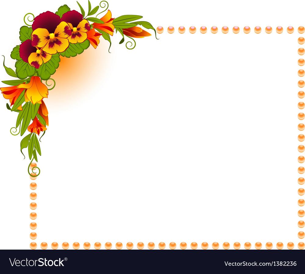 Ornate floral frame background vector   Price: 1 Credit (USD $1)