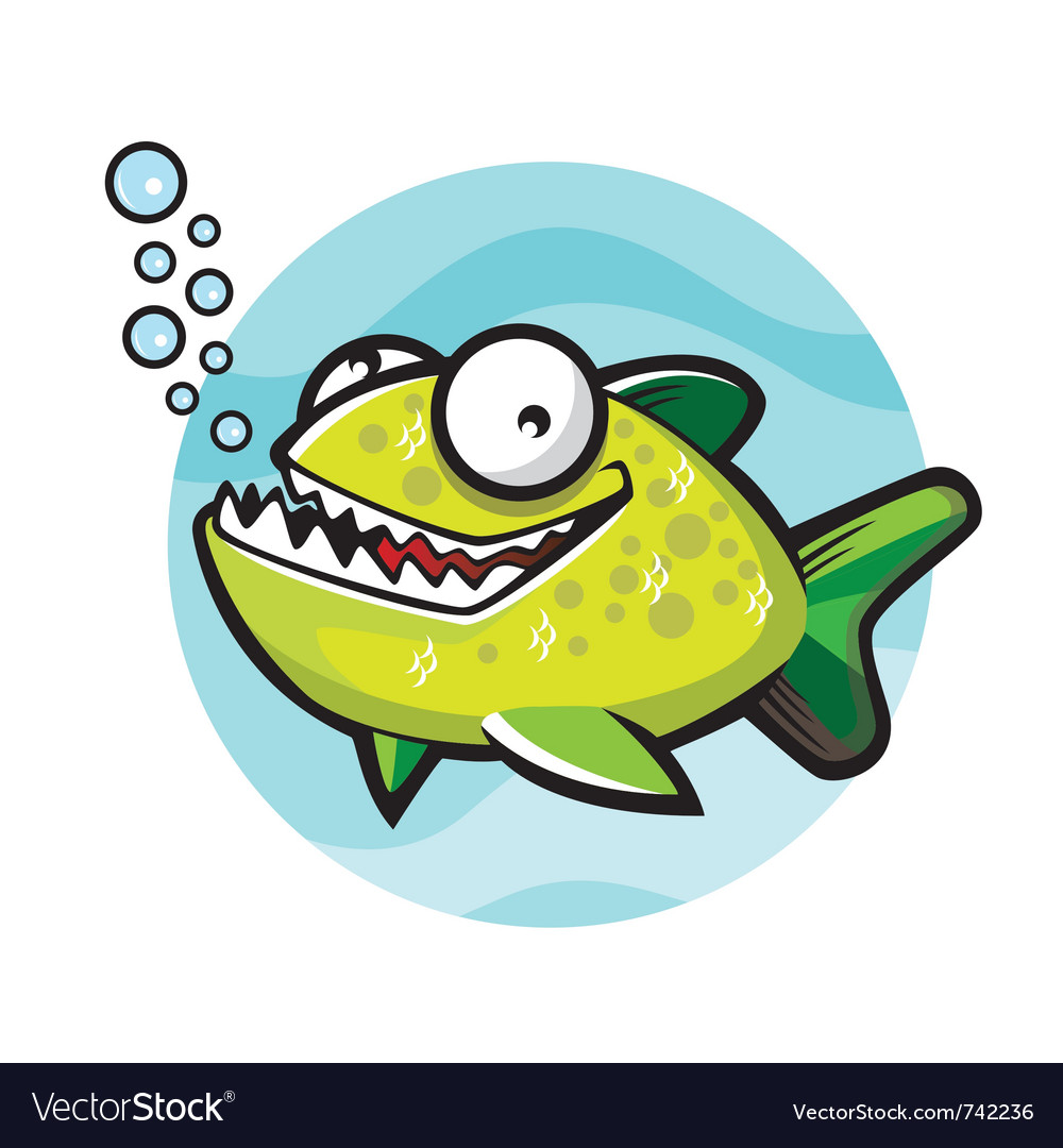 Piranha cartoon vector