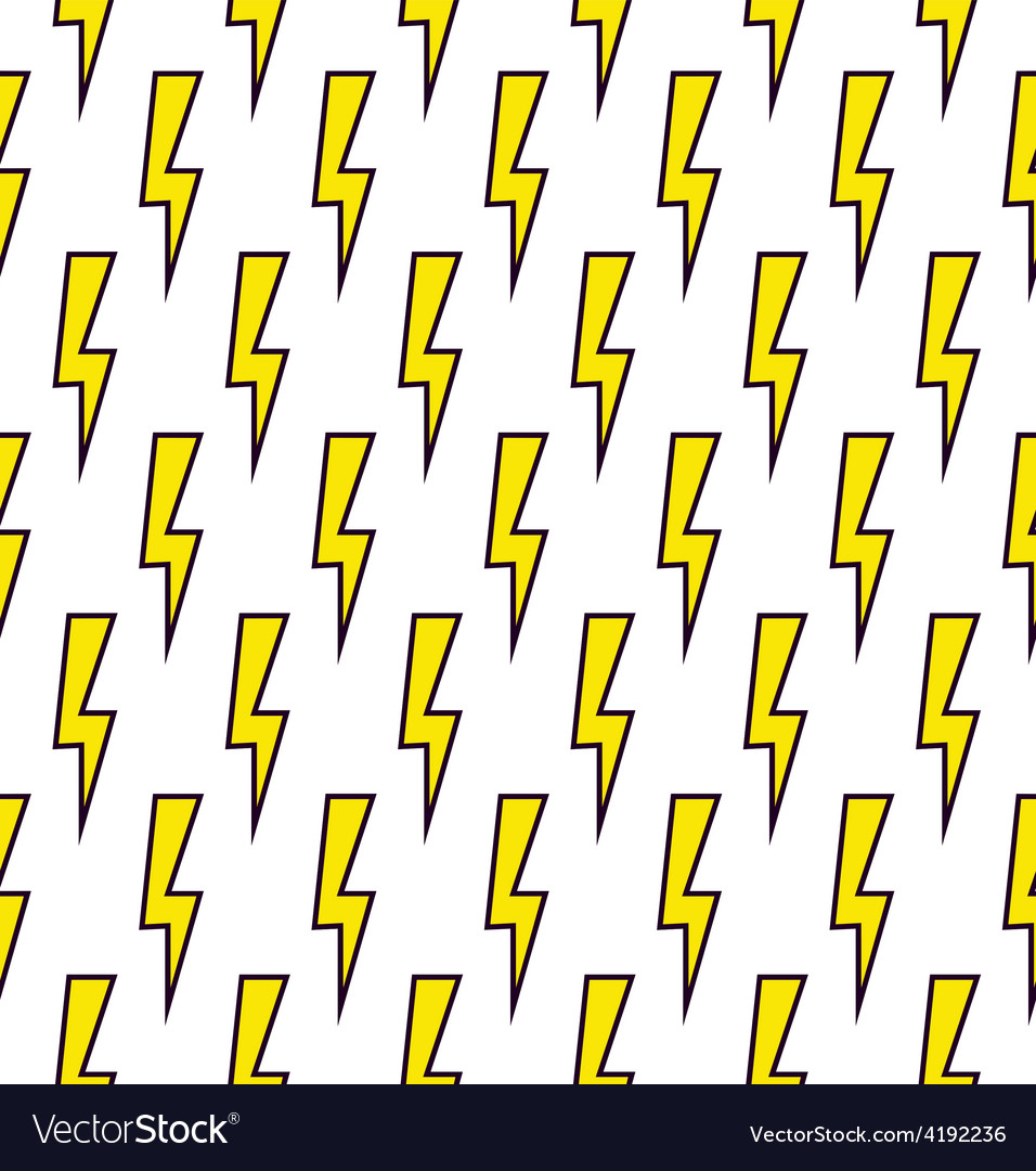 Power sign seamless pattern background vector | Price: 1 Credit (USD $1)