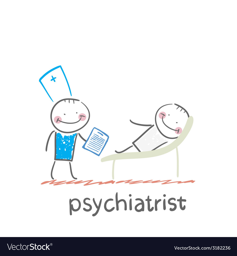 Psychiatrist says to the patient who is lying on vector | Price: 1 Credit (USD $1)