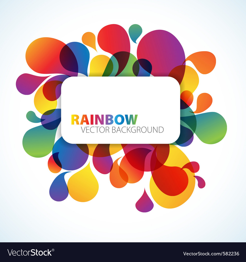Rainbow floral background vector | Price: 1 Credit (USD $1)
