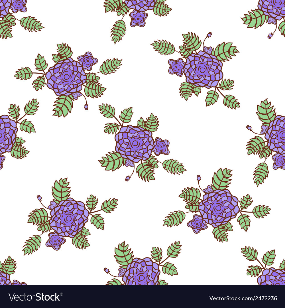 Seamless pattern with abstract roses vector | Price: 1 Credit (USD $1)
