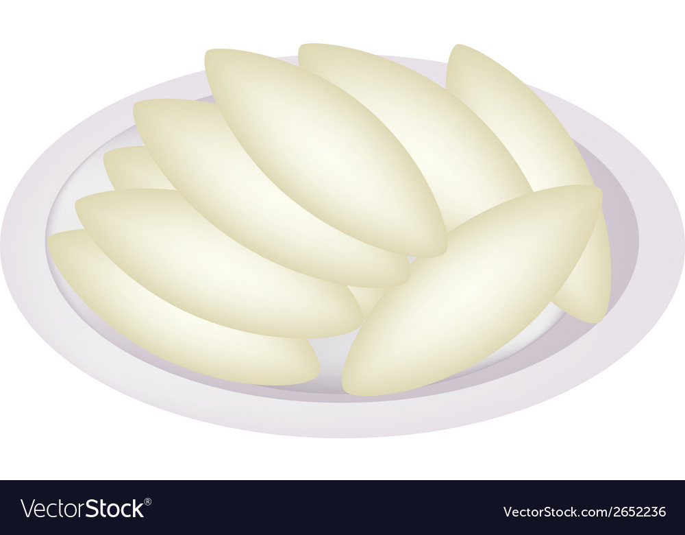 Shortbread cookies in oval shape vector | Price: 1 Credit (USD $1)