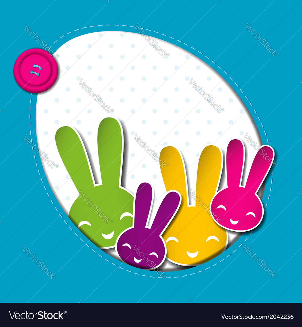 Springtime easter holiday background vector | Price: 1 Credit (USD $1)