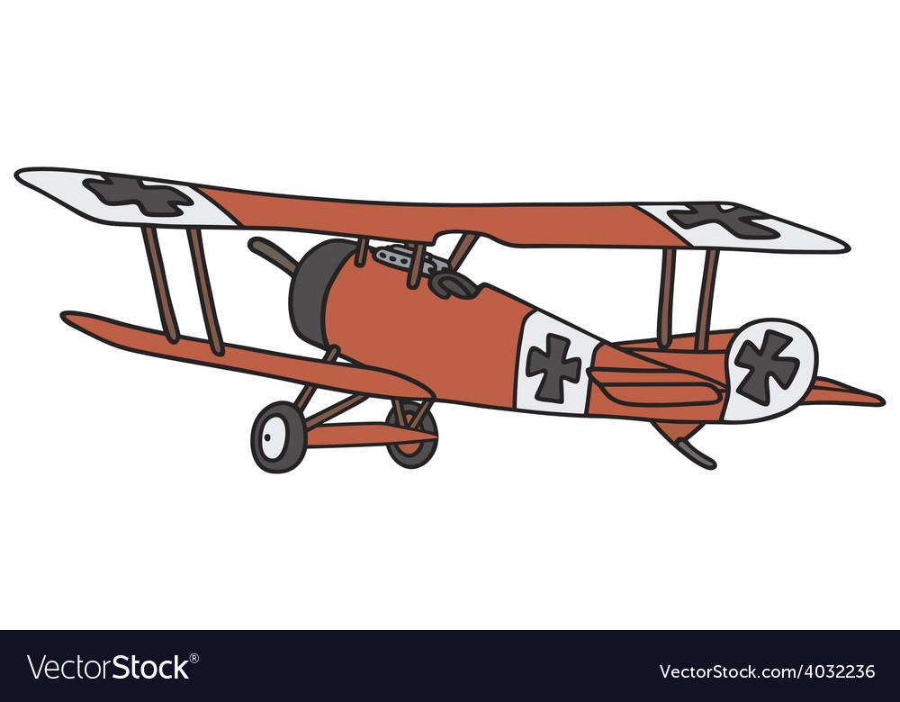 Vintage germany biplane vector | Price: 1 Credit (USD $1)
