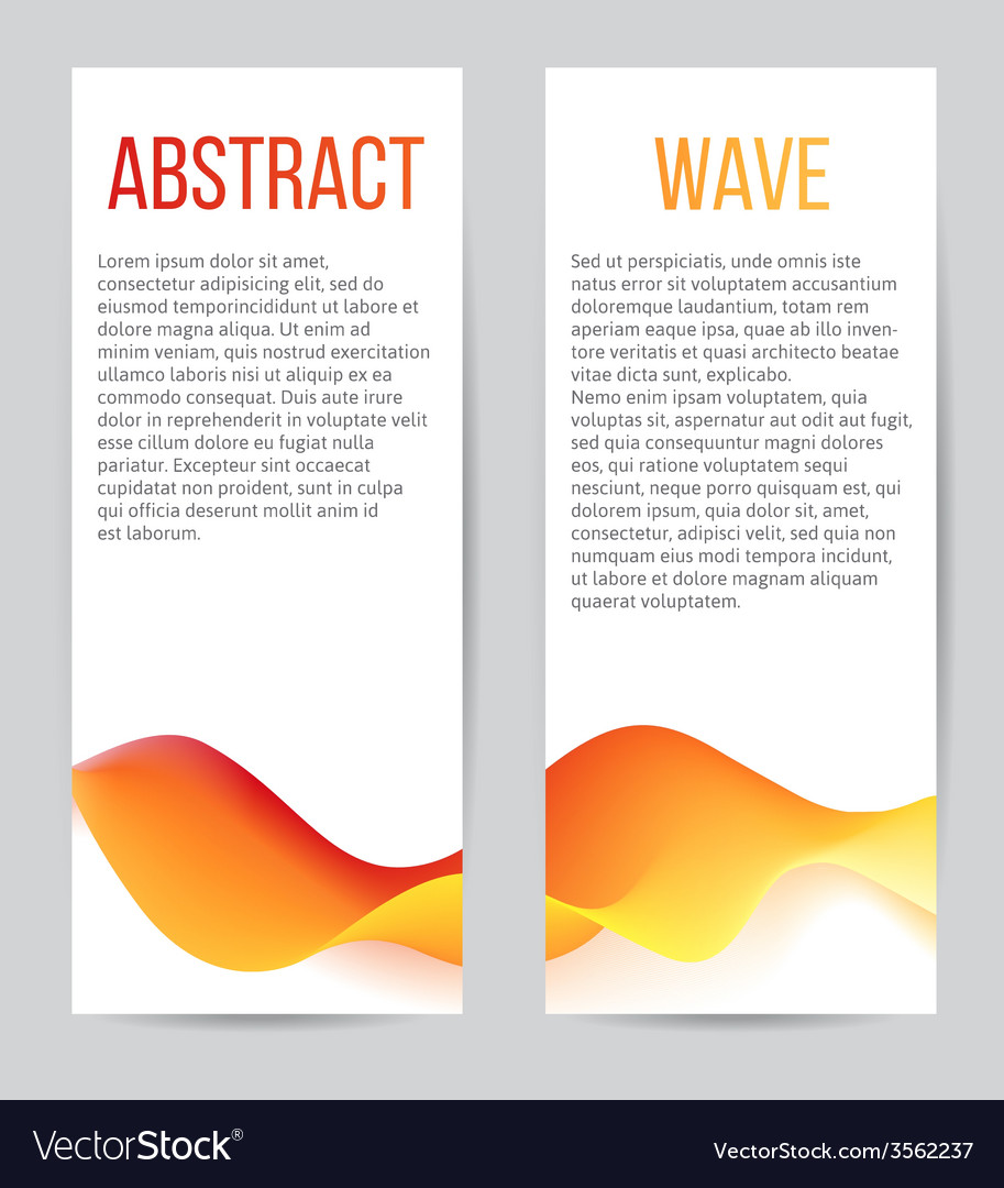 Banners with blend waves vector | Price: 1 Credit (USD $1)