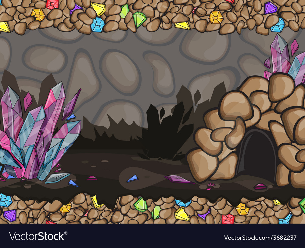 Cartoon of underground cave vector | Price: 3 Credit (USD $3)