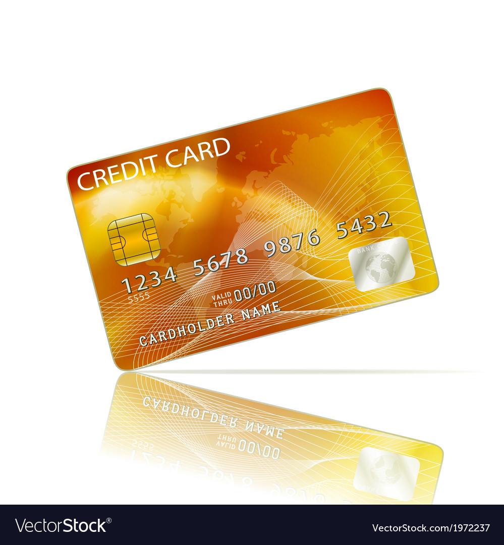 Credit card icon isolated on white vector | Price: 1 Credit (USD $1)