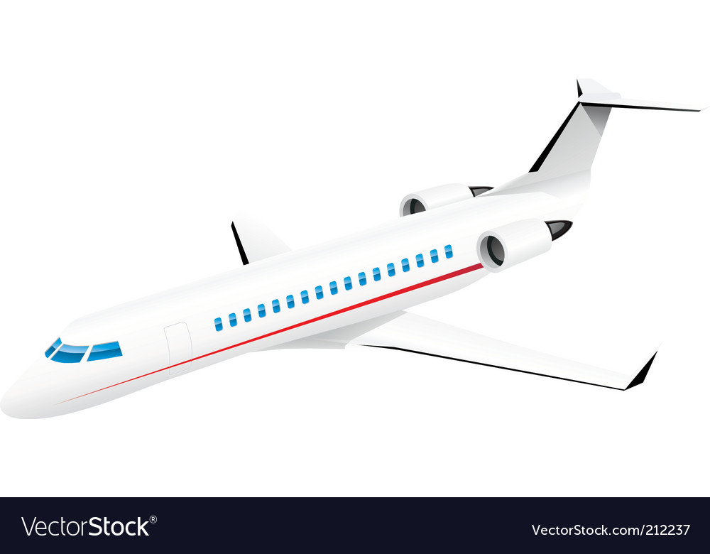 Passenger jetplane vector | Price: 3 Credit (USD $3)