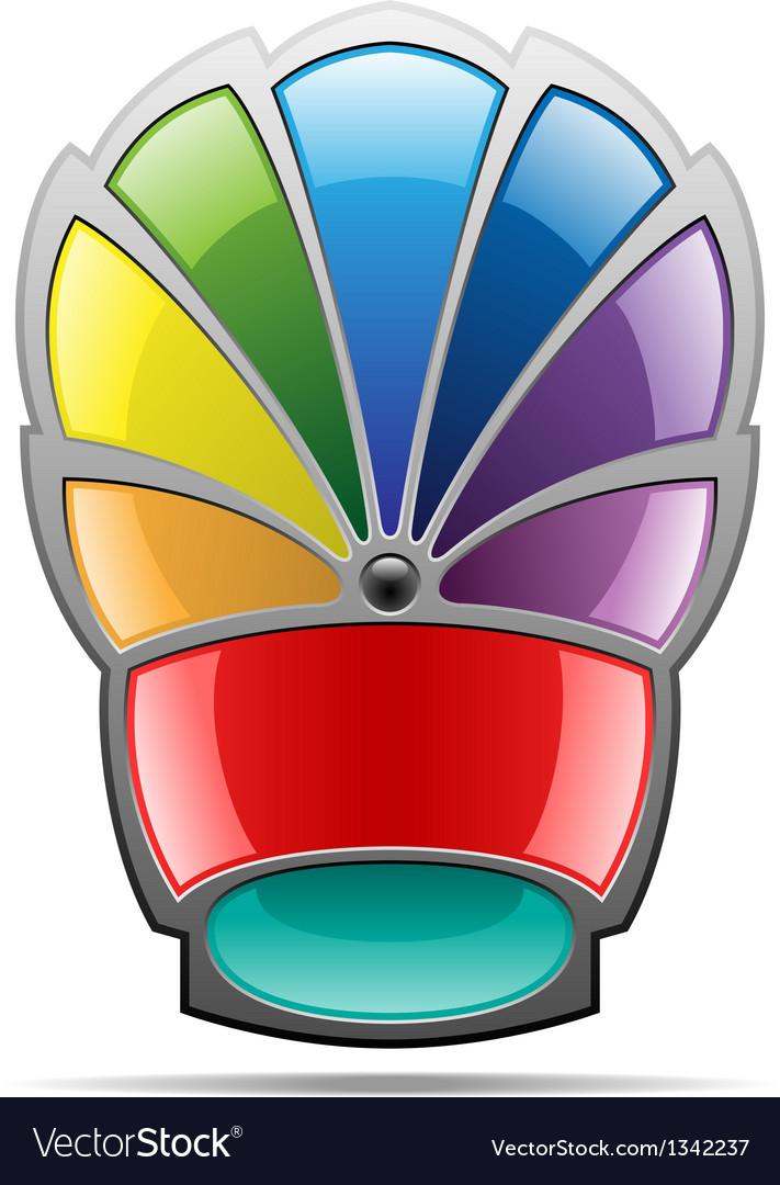 Rainbow badge vector | Price: 1 Credit (USD $1)