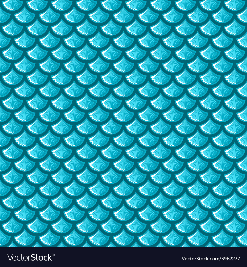 Seamless blue river fish scales vector | Price: 1 Credit (USD $1)