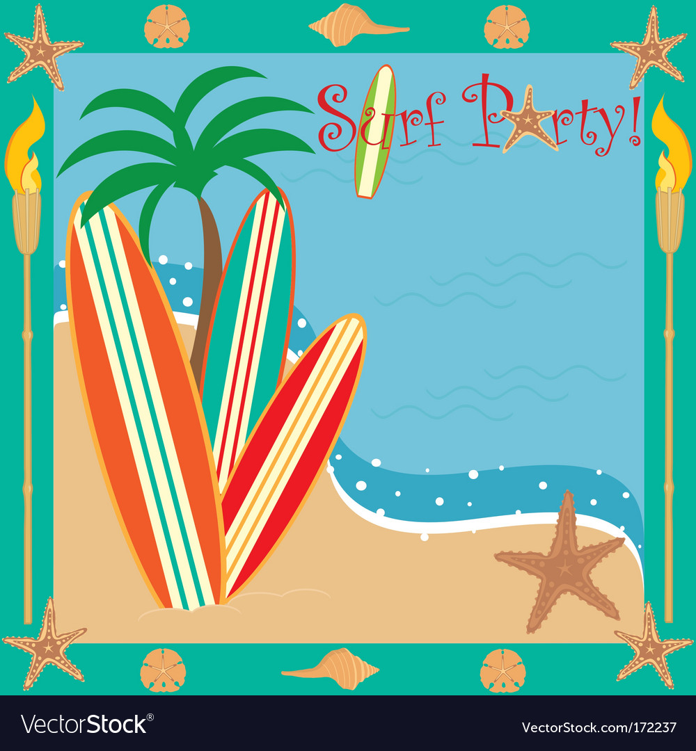 Surf party vector | Price: 1 Credit (USD $1)