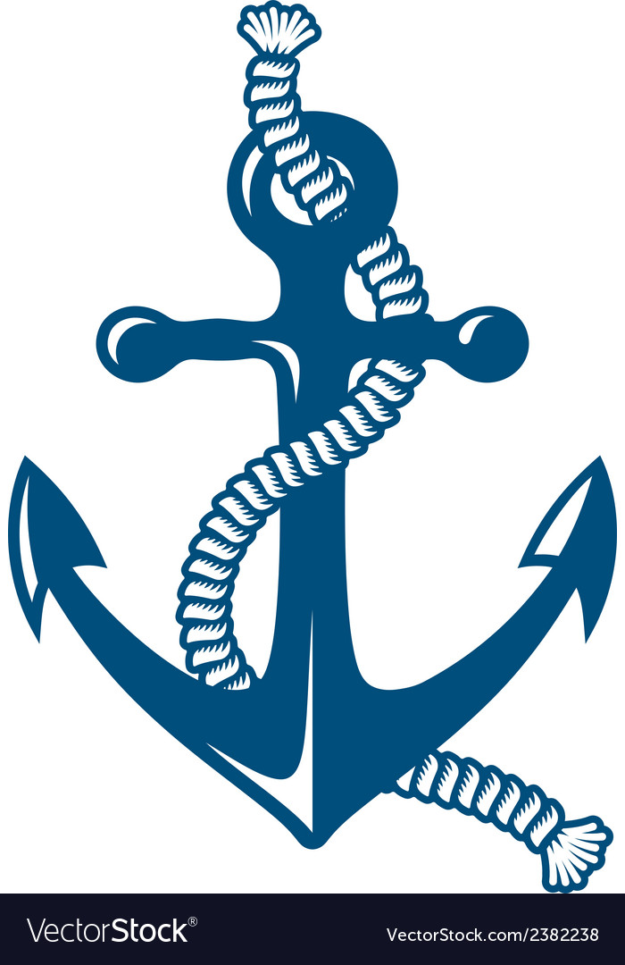 Anchor with rope vector | Price: 1 Credit (USD $1)
