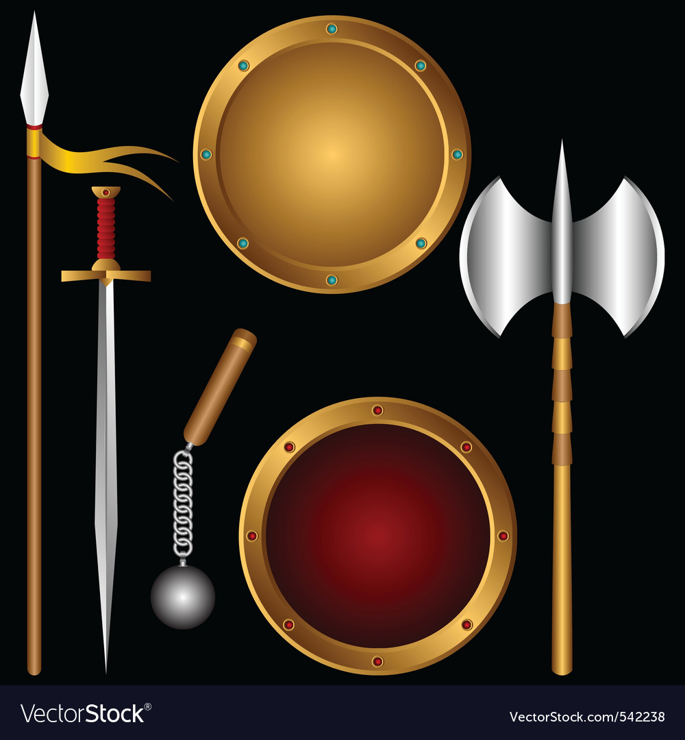 Ancient weapons vector | Price: 1 Credit (USD $1)