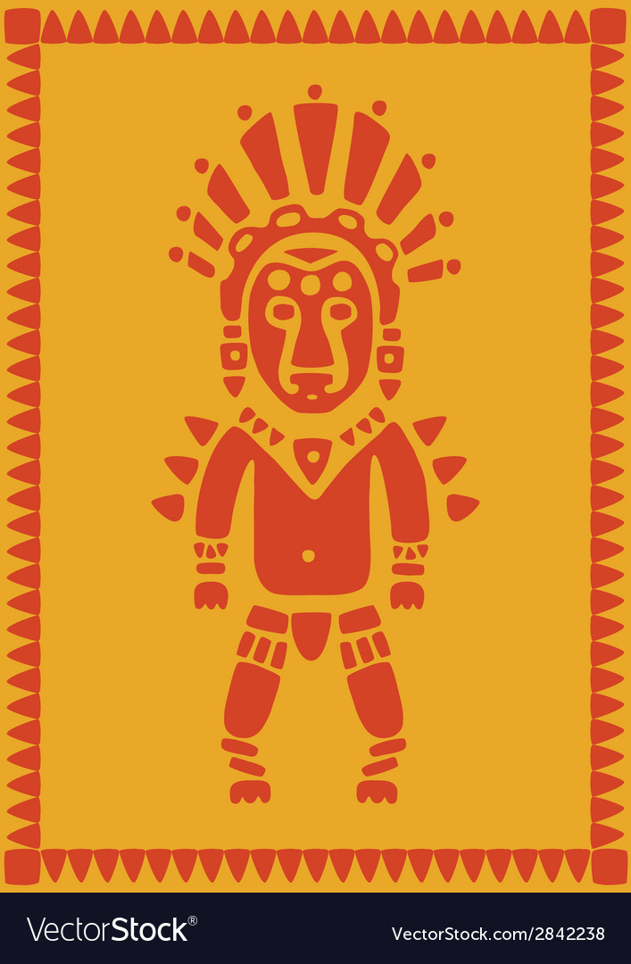 Aztec on background vector | Price: 1 Credit (USD $1)