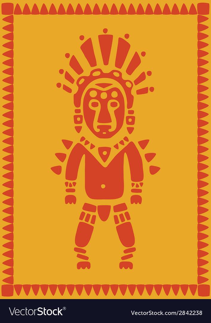 Aztec on background vector | Price: 1 Credit (USD $1)