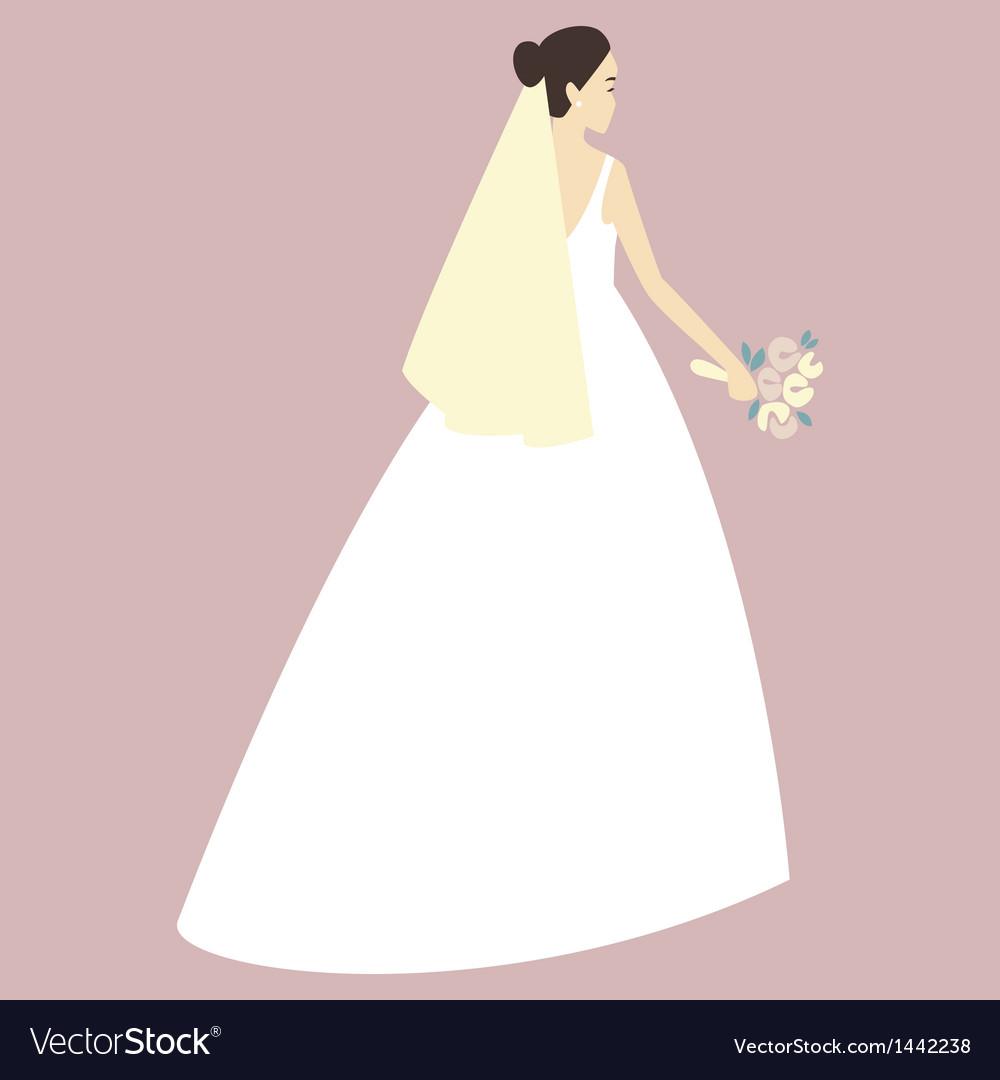 Beautiful bride vector | Price: 1 Credit (USD $1)