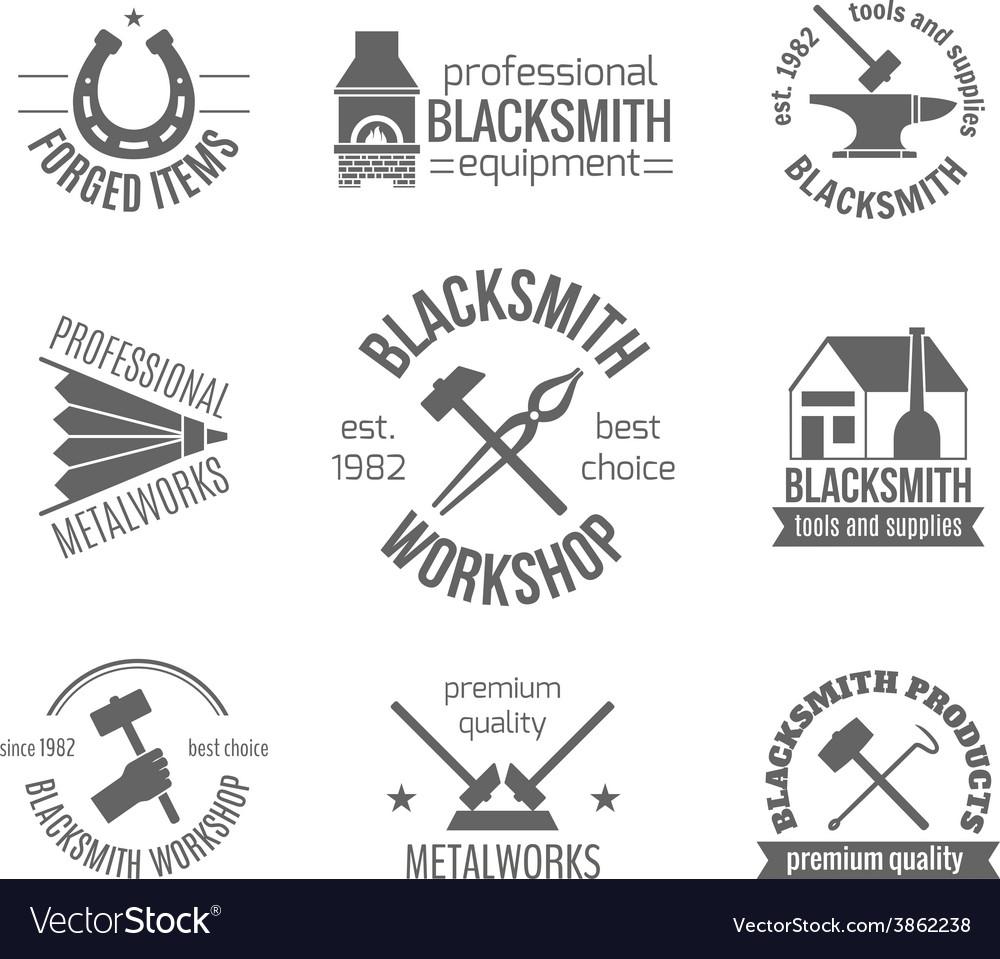 Blacksmith label set vector | Price: 1 Credit (USD $1)