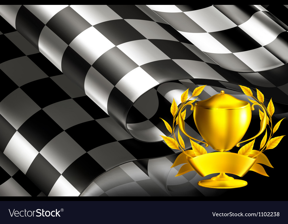 Checkered background horizontal with cup vector | Price: 1 Credit (USD $1)