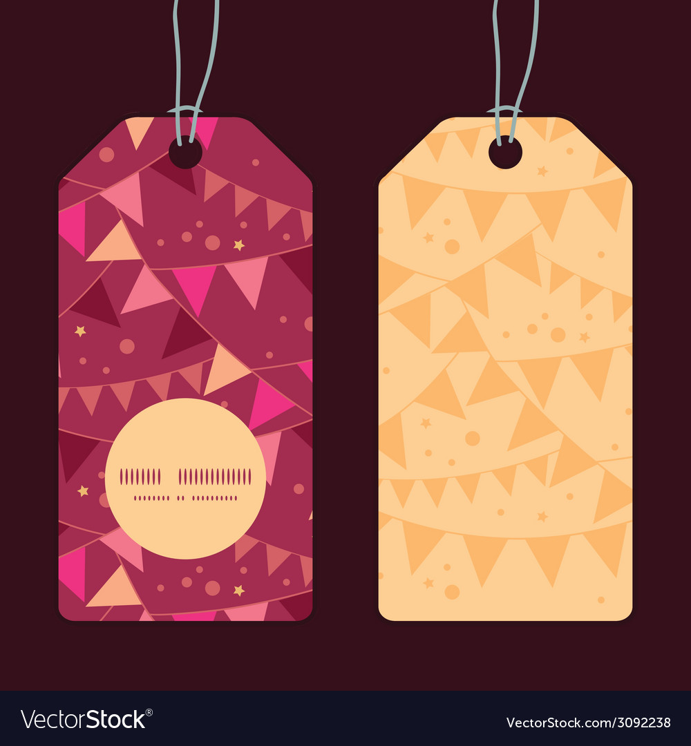 Christmas decorations flags vertical round frame vector   Price: 1 Credit (USD $1)