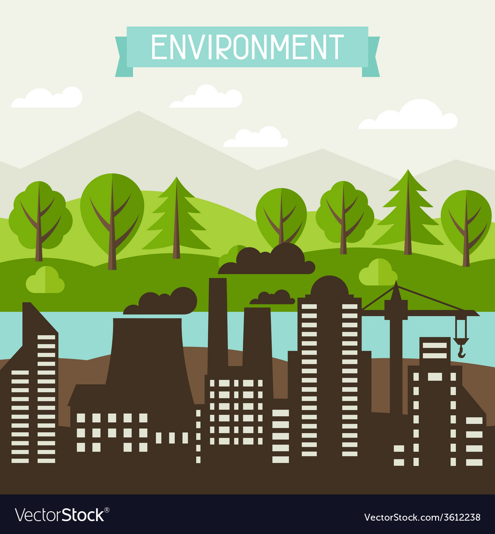 Ecology and environment concept vector | Price: 1 Credit (USD $1)