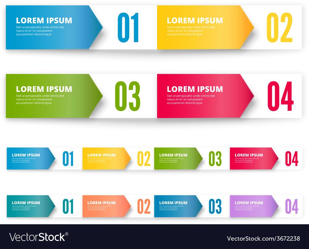 Folded cardboard labels vector | Price: 1 Credit (USD $1)