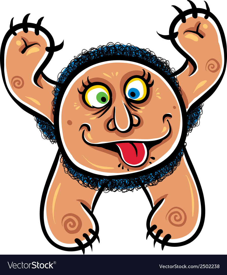 Foolish cartoon monster vector | Price: 1 Credit (USD $1)