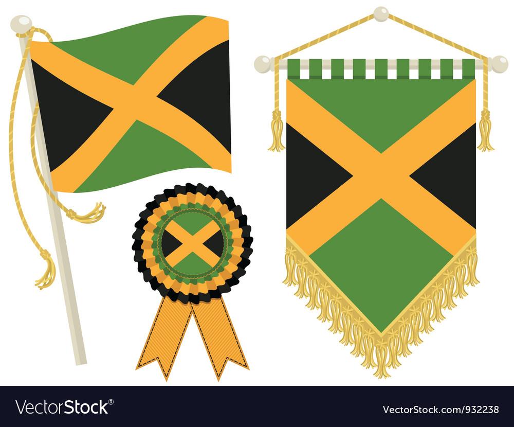 Jamaica flags vector | Price: 1 Credit (USD $1)