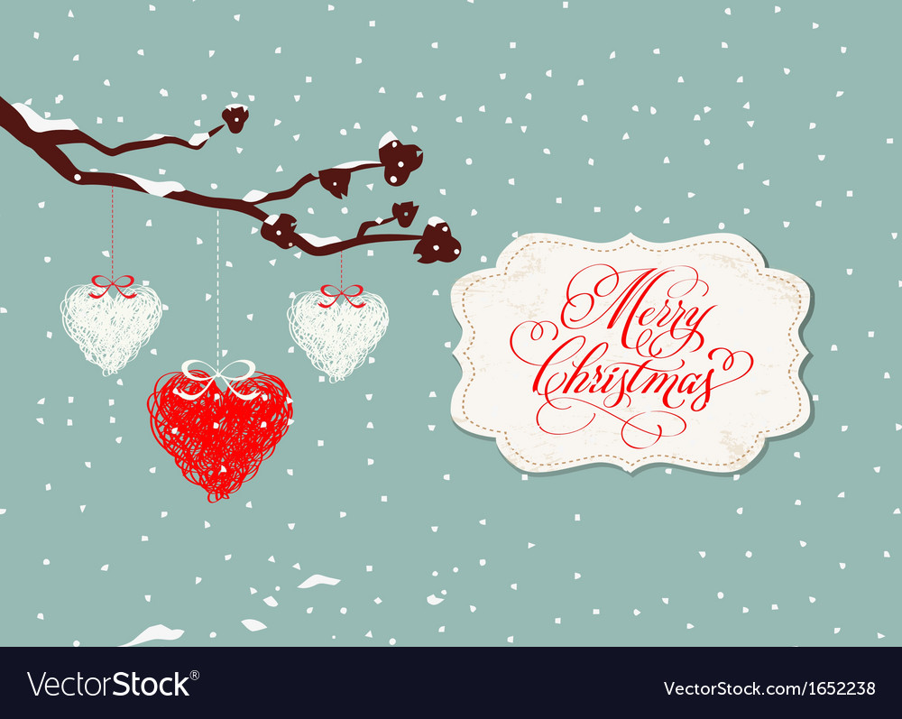 Merry christmas card with balls vector | Price: 1 Credit (USD $1)