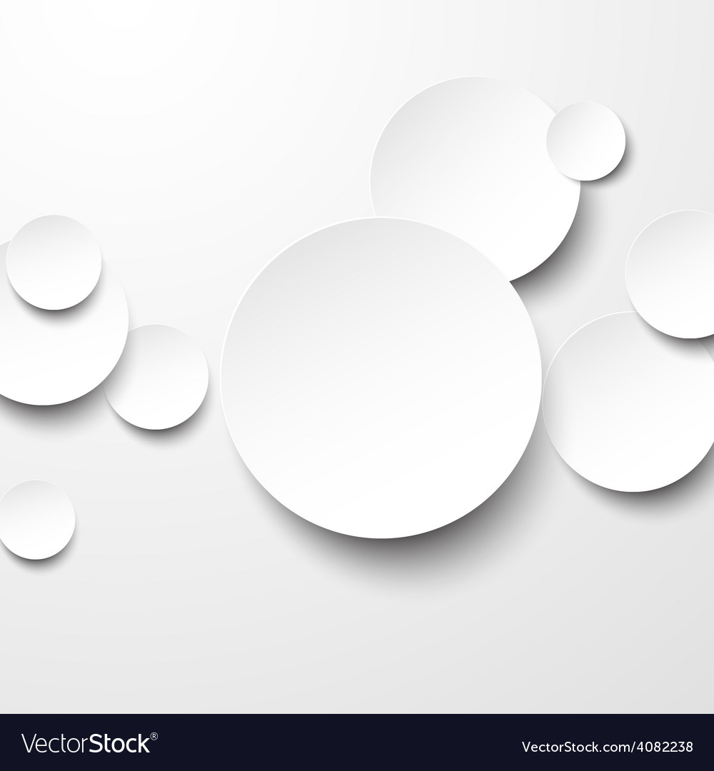 Paper white circles vector | Price: 1 Credit (USD $1)