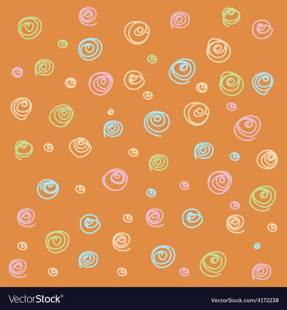Seamless abstract hand-drawn waves swirl vector