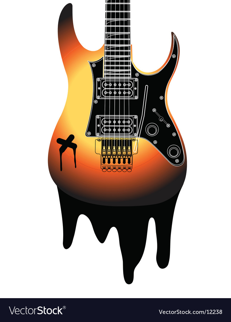 Urban guitar illustration vector | Price: 1 Credit (USD $1)