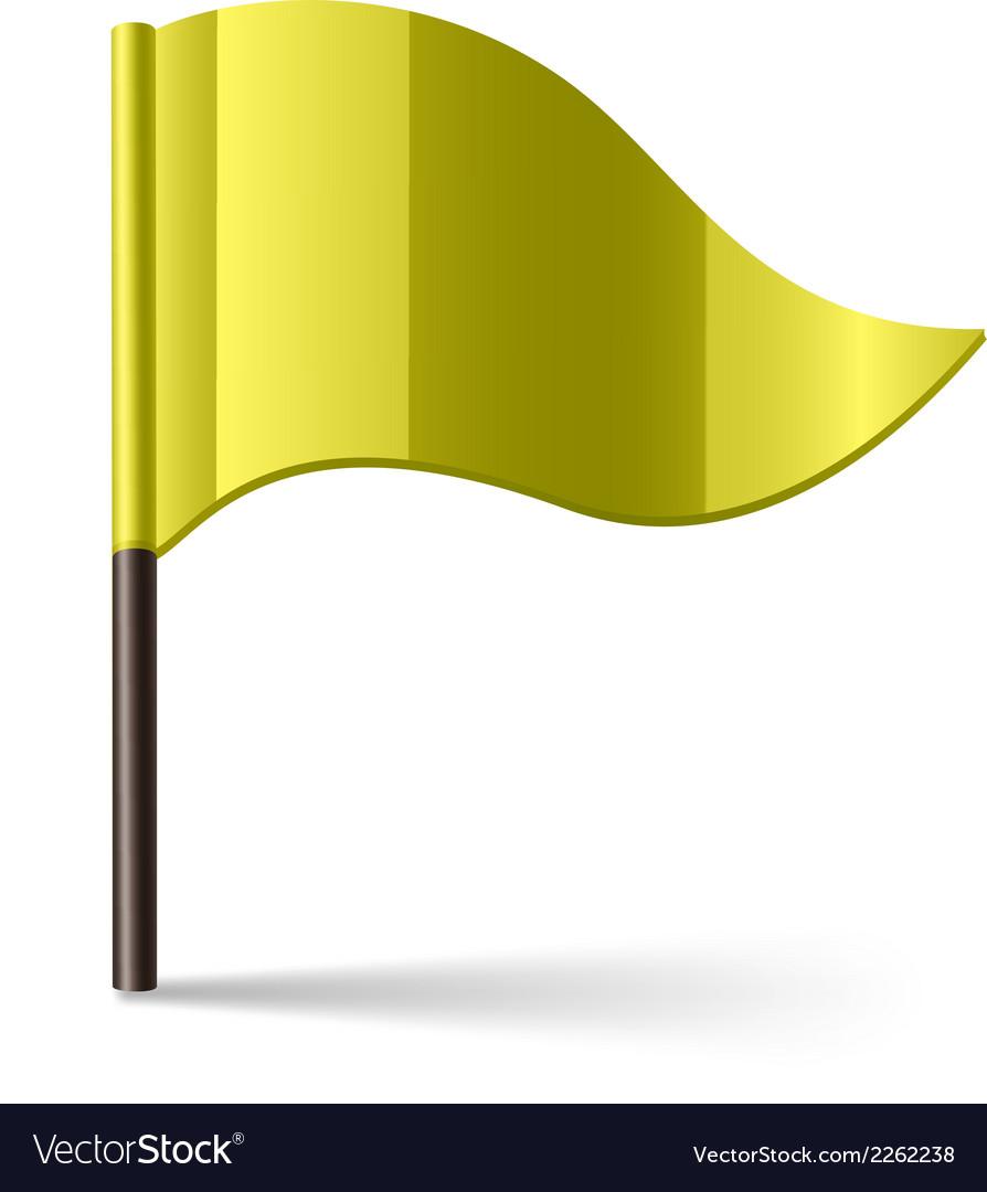 Yellow flag vector | Price: 1 Credit (USD $1)