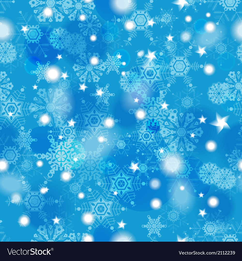 Beautiful blue winter seamless pattern vector | Price: 1 Credit (USD $1)