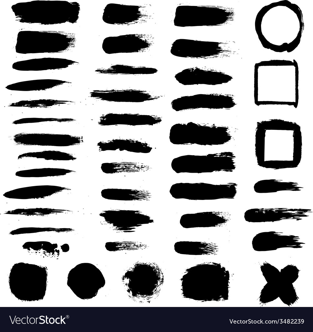 Black blobs set vector | Price: 1 Credit (USD $1)