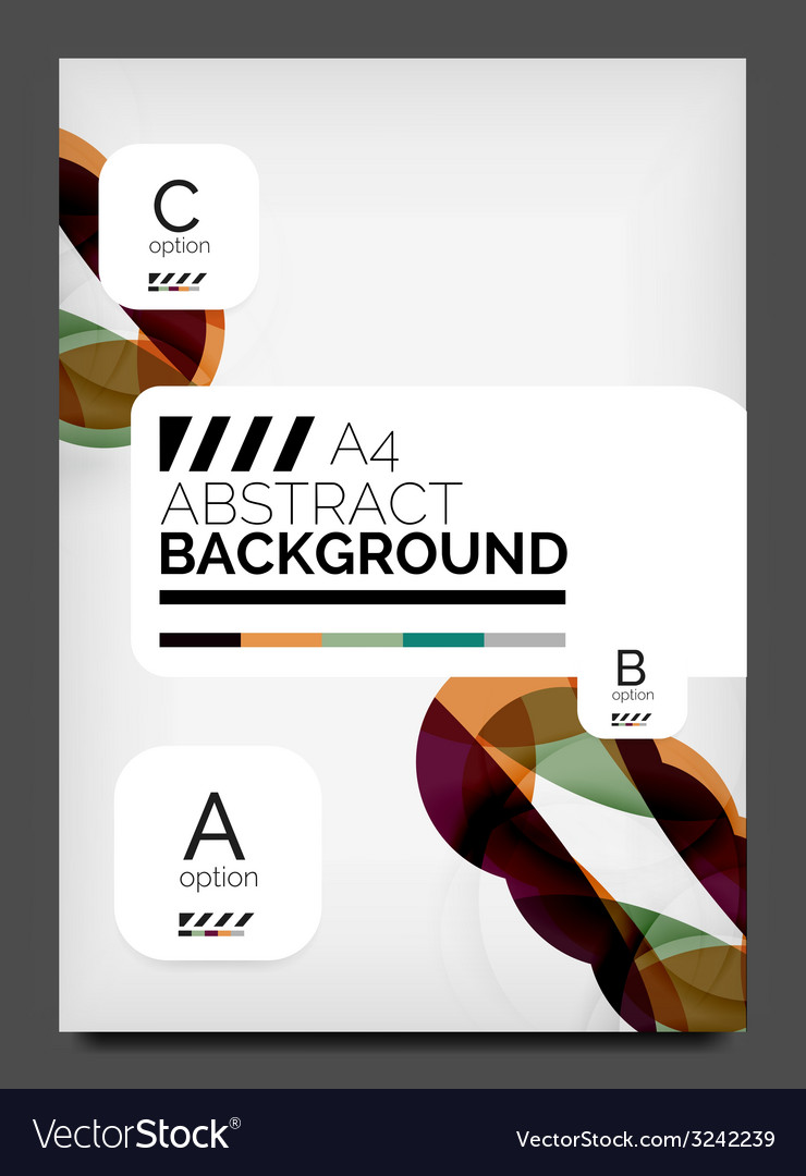 Flyer design template business web layout vector | Price: 1 Credit (USD $1)