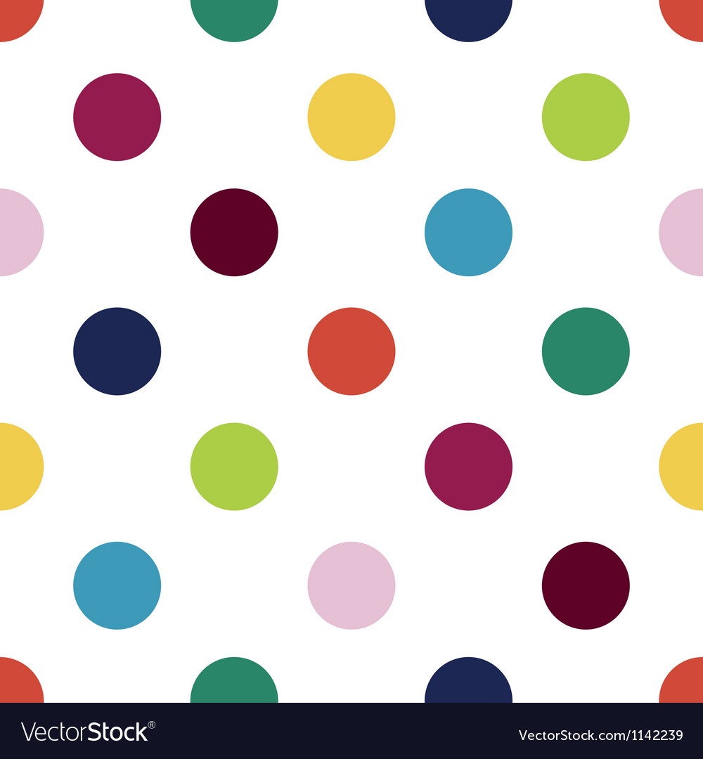 Happy polka dots vector | Price: 1 Credit (USD $1)