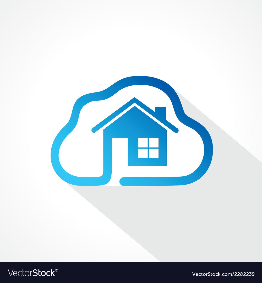 Home icon in cloud shape design concept vector | Price: 1 Credit (USD $1)