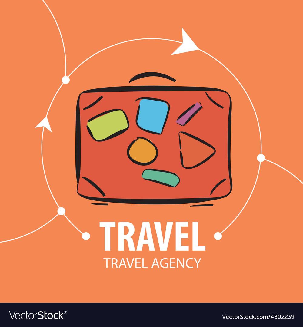 Logo orange suitcase for travel vector | Price: 1 Credit (USD $1)